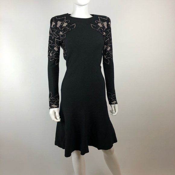 Alexander McQueen Dresses & Skirts - Alexander McQueen Black Knit Long Sleeve Dress